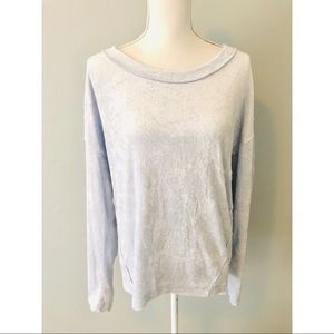 { We The Free} People Crushed Velvet Blue Top